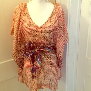 Anthropologie Kimono Sleeve Top